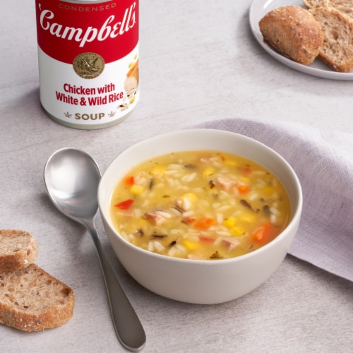 Campbell's Light Chicken with White & Wild Rice Condensed Soup Perspective: back