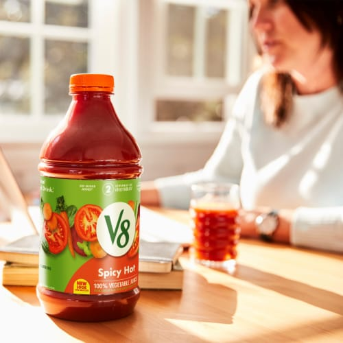 V8 Spicy Hot Vegetable Juice Perspective: back