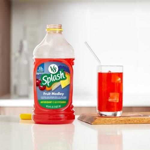 V8 Splash Fruit Medley Juice Perspective: back