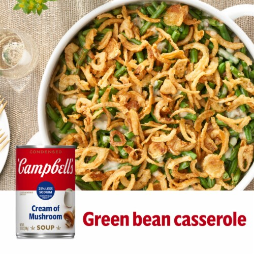 Campbell's Reduced Sodium Cream of Mushroom Condensed Soup Perspective: back