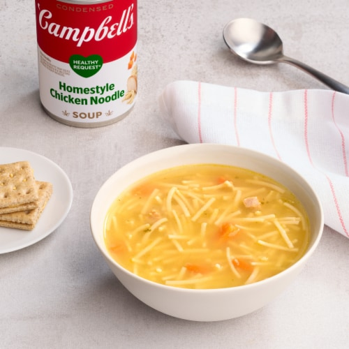 Campbell's Healthy Request Homestyle Chicken Noodle Condensed Soup Perspective: back
