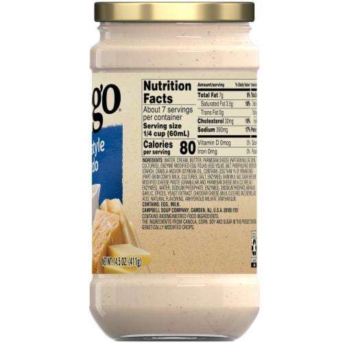 Prego Homestyle Alfredo Fresh Cream Sauce Perspective: back