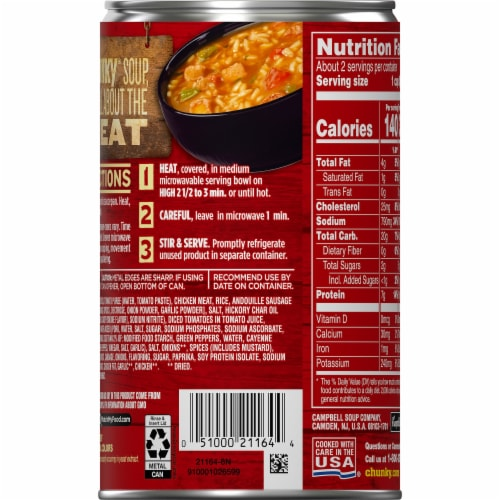 Campbell's Chunky Jazzy Jambalaya with Chicken Sausage & Ham Soup Perspective: back