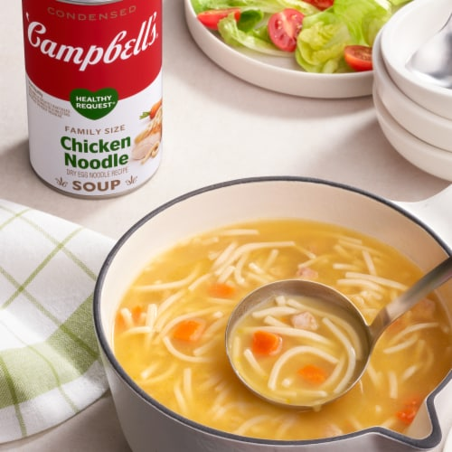 Campbell's® Condensed Healthy Request Chicken Noodle Soup Family Size Perspective: back