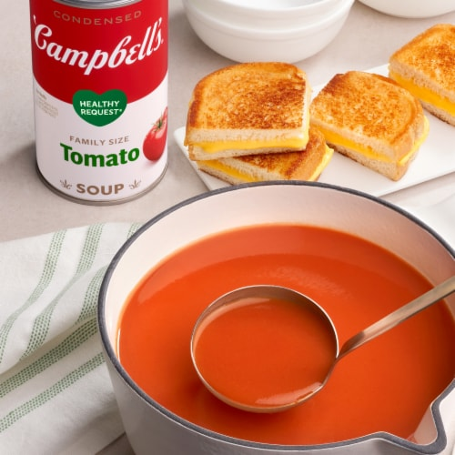 Campbells Family Size Healthy Request Condensed Tomato Soup Perspective: back