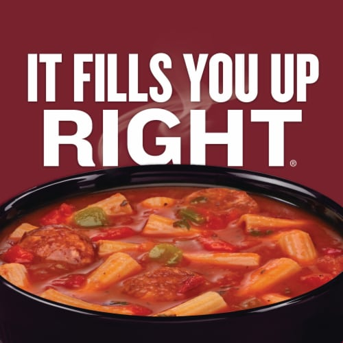 Campbell's Chunky Sausage & Pepper Rigatoni Soup Perspective: back