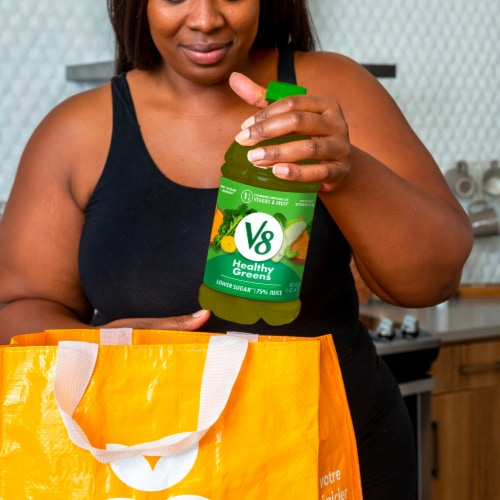 V8 Healthy Greens Juice Beverage Perspective: back