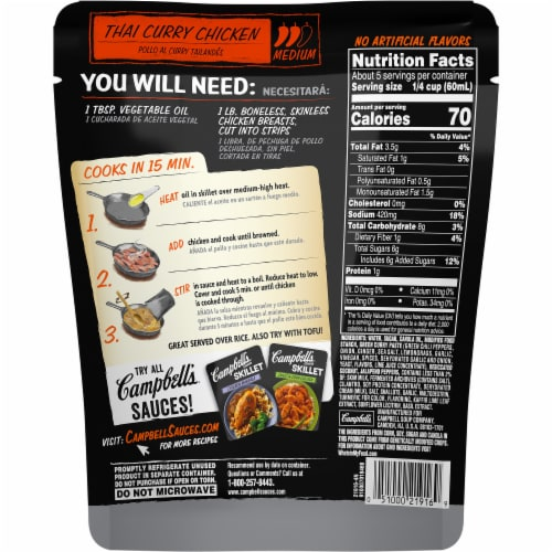 Campbell's Skillet Thai Curry Chicken Sauce Perspective: back