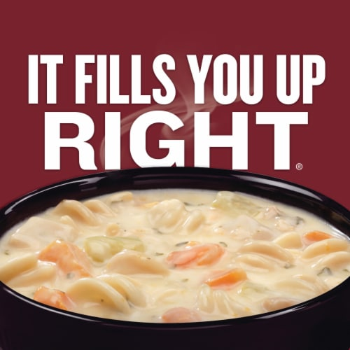 Campbell's Chunky Creamy Chicken Noodle Soup Perspective: back