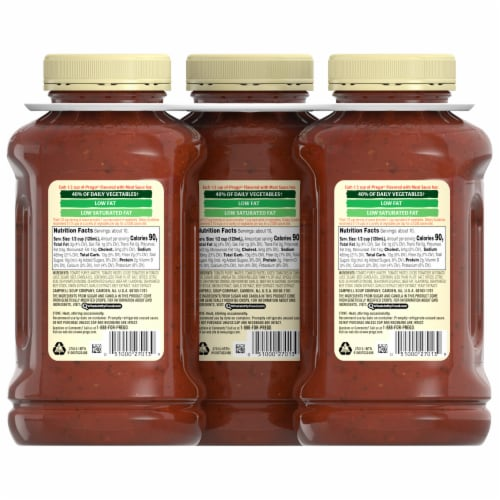Prego Flavored with Meat Italian Pasta Sauce 3 Count Perspective: back