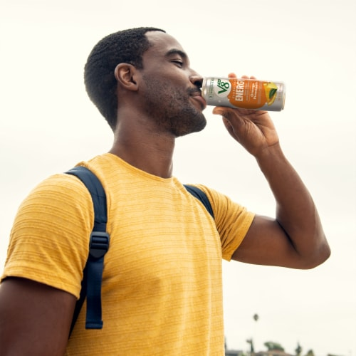 V8 Orange Pineapple Sparkling Juice Drink Perspective: back