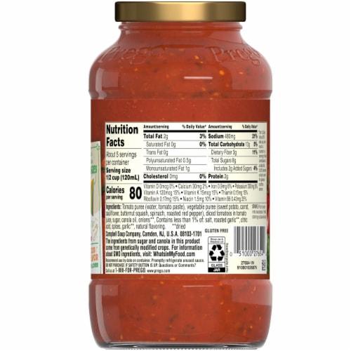 Prego Plus Super Hidden Veggies Roasted Garlic & Herb Flavored Pasta Sauce Perspective: back