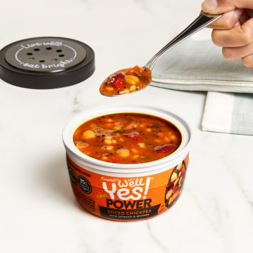 Campbell's Well Yes! Spiced Chickpea Soup Perspective: back