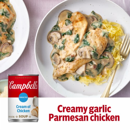 Campbell's® Condensed Unsalted Cream of Chicken Soup Perspective: back