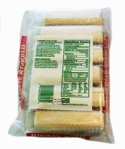 John's Ravioli Cheese Manicotti Perspective: back