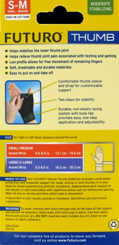 Futuro Deluxe Small/Medium Thumb Stabilizer Perspective: back