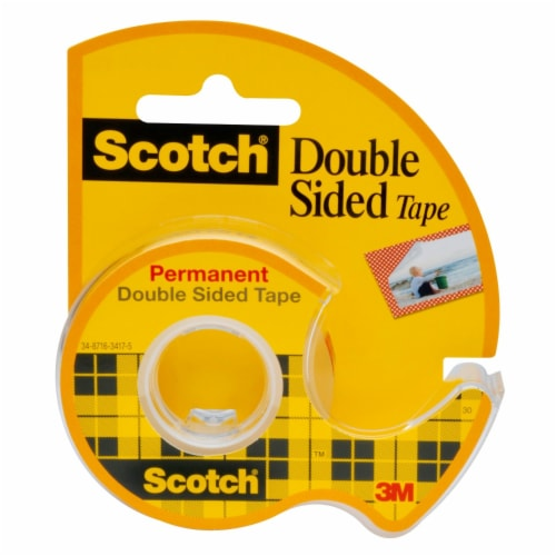 Scotch® Permanent Double-Sided Tape - Clear Perspective: back
