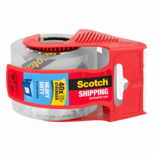 Scotch® Heavy Duty Shipping Packaging Tape - Clear Perspective: back