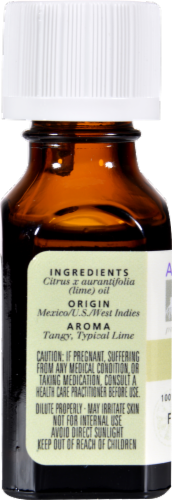 Aura Cacia Lime Essential Oil Perspective: back