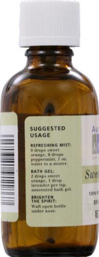 Aura Cacia Sweet Orange Essential Oil Perspective: back