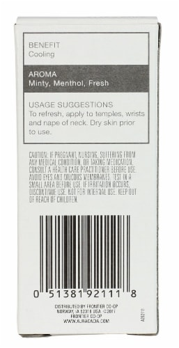 Aura Cacia Peppermint Essential Oil Roll On Perspective: back