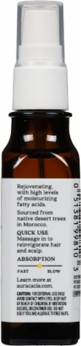 Aura Cacia Organic Argan Oil Perspective: back