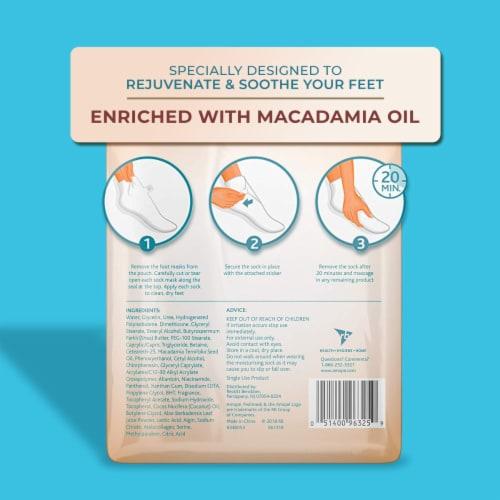 Amope Pedimask Macadamia Oil Foot Sock Mask Perspective: back