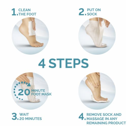 Amope Pedimask Coconut Oil Foot Sock Mask Perspective: back