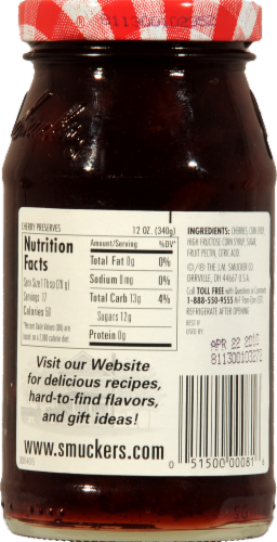 Smucker's Cherry Preserves Perspective: back