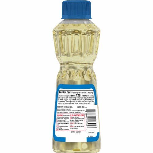 Crisco Pure Vegetable Oil Perspective: back