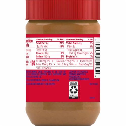 Jif Creamy Peanut Butter Spread Perspective: back