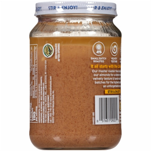 MaraNatha Crunchy Roasted Almond Butter Perspective: back