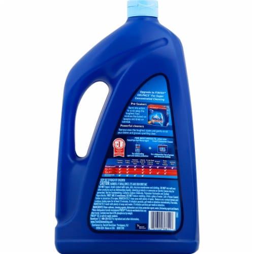 Finish Gel Orange Fresh Scent Dishwasher Detergent Perspective: back