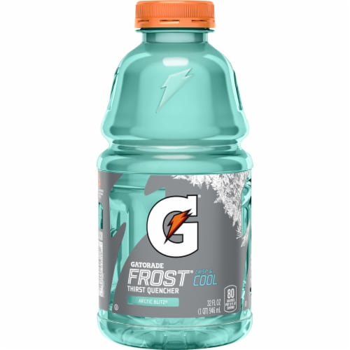 Gatorade Frost Arctic Blitz Thirst Quencher Electrolyte Enhanced Sports Drink Perspective: back