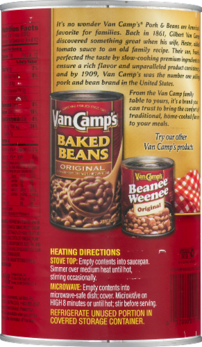 Van Camp's Pork & Beans In Tomato Sauce Perspective: back