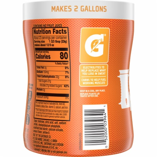 Gatorade Perform Orange Thirst Quencher Powder Drink Mix Perspective: back
