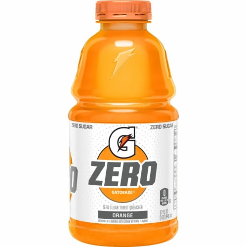 Gatorade G Zero Sugar Orange Electrolyte Enhanced Sports Drink Perspective: back