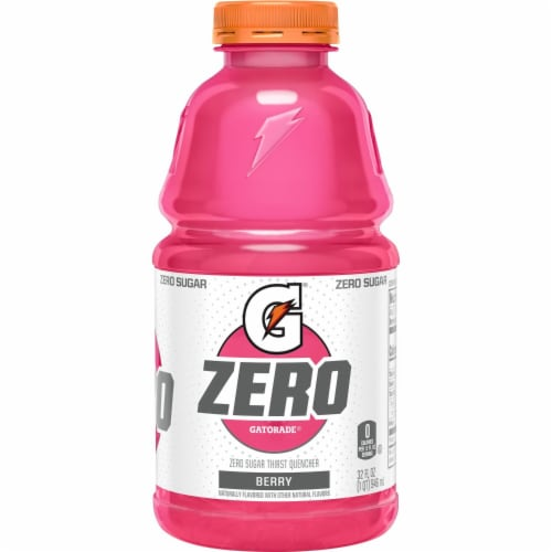 Gatorade G Berry Thirst Zero Sugar Quencher Electrolyte Enhanced Sports Drink Perspective: back