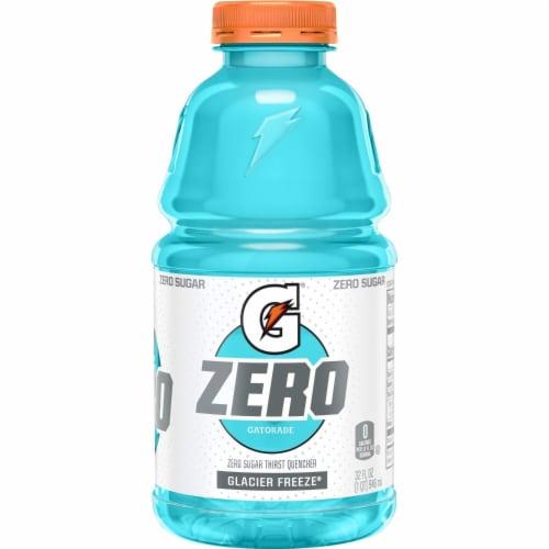 Gatorade G Zero Sugar Glacier Freeze Electrolyte Enhanced Sports Drink Perspective: back