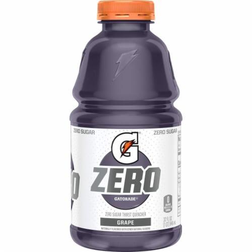 Gatorade G Zero Sugar Grape Electrolyte Enhanced Sports Drink Perspective: back