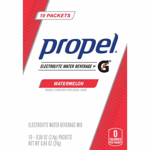 Propel Watermelon Electrolyte Water Beverage Mix 50 Count Perspective: back