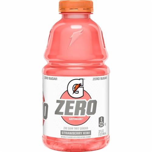 Gatorade Zero Strawberry Kiwi Zero Sugar Electrolyte Enhanced Sports Drink Perspective: back