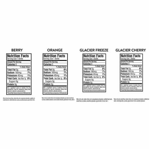 Gatorade G Zero Thirst Quencher Variety Pack Perspective: back