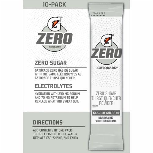 Gatorade Zero Sugar Glacier Cherry Electrolyte Enhanced Sports Drink Mix Perspective: back