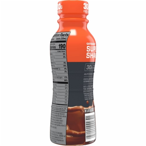 Gatorade Super Shake Chocolate Protein Shake Perspective: back
