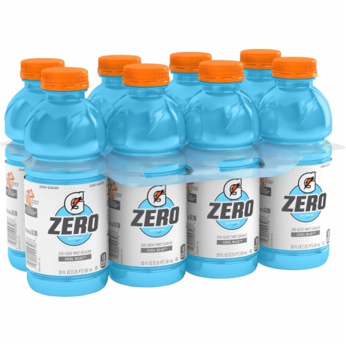 Gatorade Zero Thirst Quencher Cool Blue Sports Drink Perspective: back
