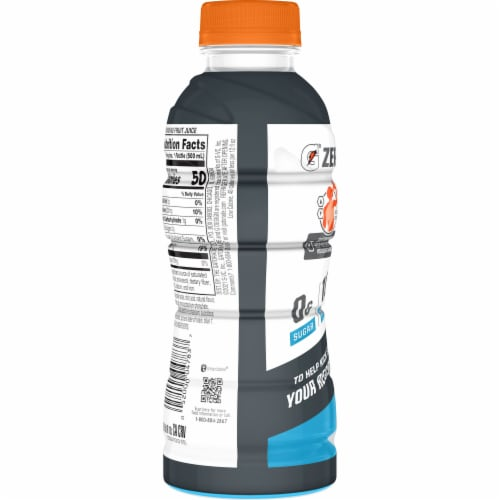 Gatorade\u00AE Zero Sugar with Protein Thirst Quencher Cool Blue Sports Drink Perspective: back