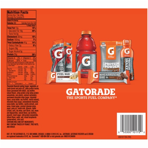 Gatorade Chocolate Chip Whey Protein Bars Perspective: back