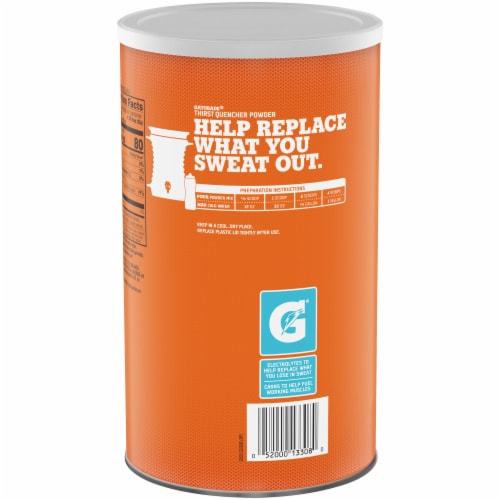 Gatorade Frost Glacier Freeze Thirst Quencher Powder Perspective: back