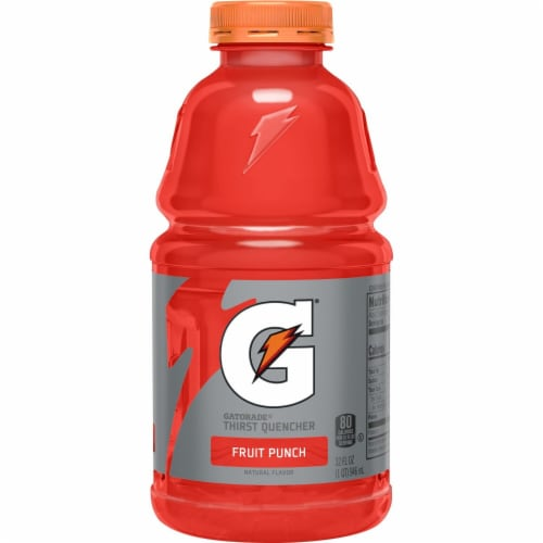 Gatorade Thirst Quencher Fruit Punch Electrolyte Enhanced Sports Drink Perspective: back